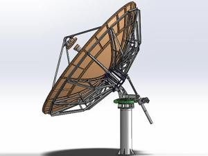 5.36m Ka-band RxTx Antenna (Turntable Mount)
